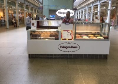 Haagen-Dazs Ice Cream Parlour at St Pancras International Station