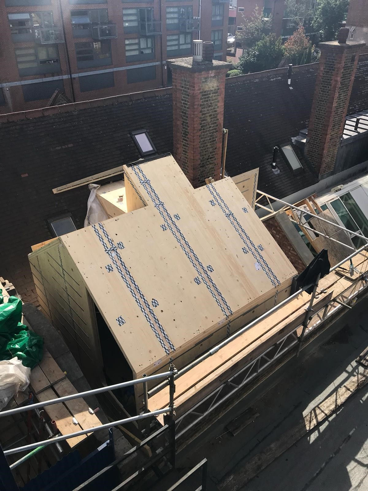 60 Tanner Street - CLT Structure from above
